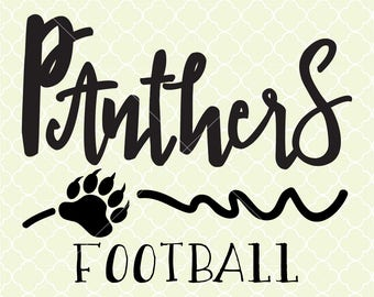 Panthers Football SVG DXF Files for Cricut Design, Silhouette studio.