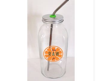32 oz Glass Specialty Jar Set - Made to store your juice and smoothie creations!