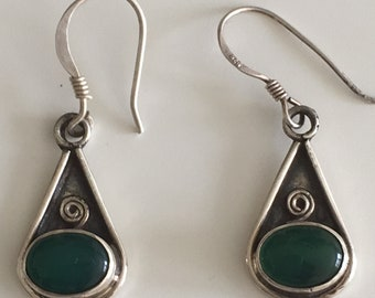 Vintage boho, ethnique, tribal silver 925 stamped Earring