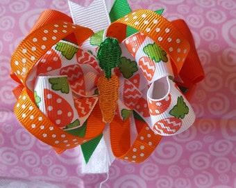 Easter Carrot Hair Bow