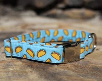 Taco Collar | Dog Collar | Male Dog Collar | Female Dog Collar | Novelty Dog Collar | Pet Collar | Large Dog Collar | Small Dog Collar, Taco