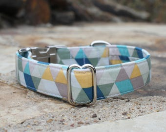 Geometric Collar | Dog Collar | Male Dog Collar | Female Dog Collar | Novelty Dog Collar | Pet Collar | Large Dog Collar | Small Dog Collar