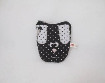 Dog poop bag holder - black dog - item on sale with small defect