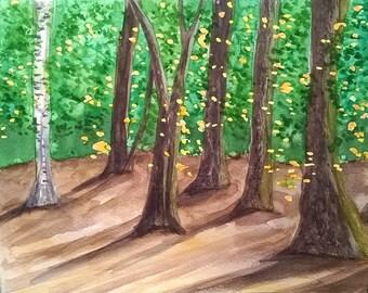 "Watercolor landscape ""Lover"""