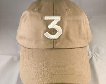 Sale!! Sale! Chance 3 Hat Cap Embroidered Strapback Dad Hat Khaki