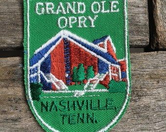 ONLY ONE! Grand Ole Opry Nashville Tennessee Vintage Souvenir Travel Patch from Voyager - New In Original Package