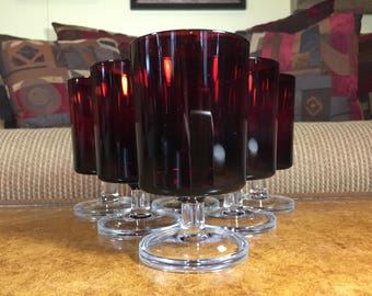 Cavalier Ruby by Cristal D'Arques-Durand Wine Glass Set of 6