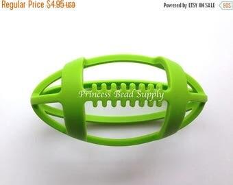 SALE Green Football Silicone Teether,  Football Teether,  100% Food Grade Silicone, Sensory Teether,  Silicone Teether