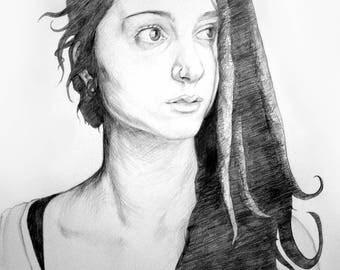 Custom portrait/personalized Portraits/A4
