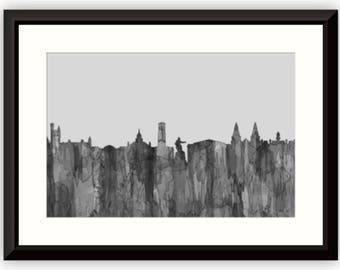 Aberdeen, Scotland Skyline - Navaho B & W