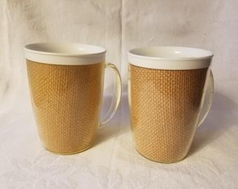 Vintage Raffia Cups