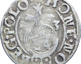 1623 Półtorak 3 Polker Sigismund III Polish–Lithuanian Commonwealth Silver Coin