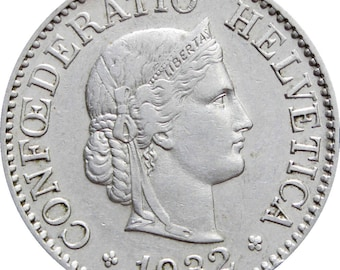 1932 10 Rappen Switzerland Coin