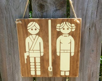 Star Wars Sign, Restroom Sign, Childrenu0027s Bathroom Decor, Star Wars Decor,  Bathroom