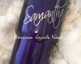 Personalized Powder Coated Stainless Steel 30 ounce tumblers