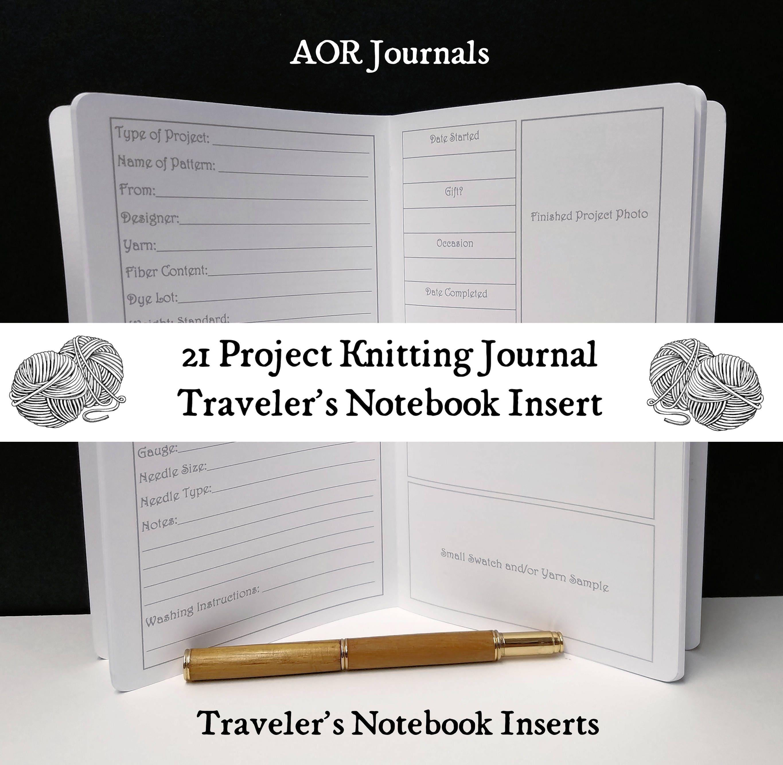 Knitting Project Journal : Traveler s notebook insert project knitting journal