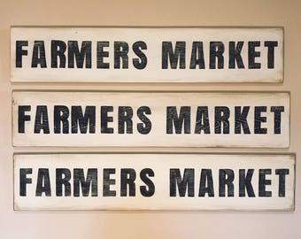 Farmers Market Home Decor Sign