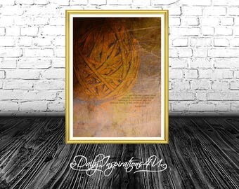 Modern Wall Art, Minimalist, Abstract, Inspirational, Large Poster, Printable, Wall Decor, Earth Tones, Digital Download  / (G218-1)