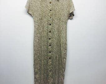 90's Grunge Floral Maxi Dress