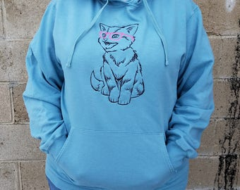 Unique Hip Kitty Hoodie - Embroidered Design