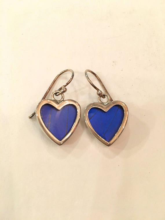 BLUE MORPHO Butterfly Wing Earrings// Butterfly Wing Jewelry// AUTHENTIC Butterfly Wings// Eco Friendly Jewelry// Statement Jewelry