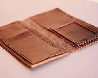 Leather Wallet, Genuine Leather Handmade Wallet