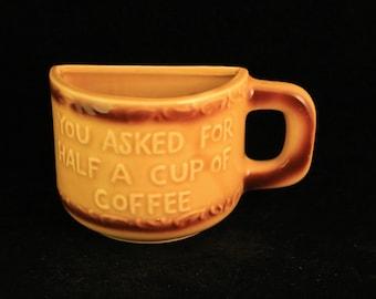 """Vintage """"Half Cup"""" Coffee Mug Chicago Travel Souvenir"""