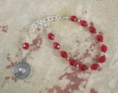 Ares Prayer Bead Bracelet: Greek God of War, Battle, Courage, and Survival, Patron and Protector of Soldiers