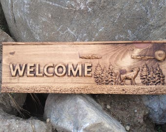 Rustic Custom Welcome Sign