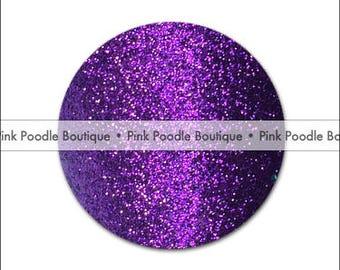 Glitter DRINK COASTERS (8 pc) --  Dark Purple