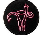 Feminist Patches - Iron On Patch - Uterus - Enamel Pins - Embroidered - Feminism - Embroidery - Womens - Kawaii - Flair - Pins - Pro Choice