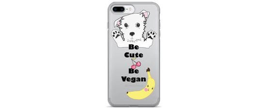 Be Cute Be Vegan, Iphone Case