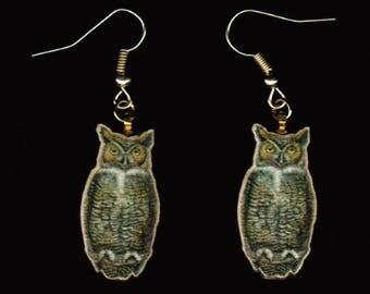 Owl (Great Horned) Owl Earrings