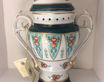 Vintage Italian Venitian Lagoon Vase with Certificate of Authenticity Antique Italian Vase