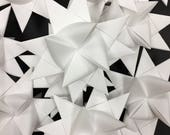 13 Small White German Paper Stars Quick Order Ready to Ship Moravian Stars Star Ornaments