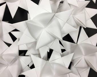 30 Medium White German Paper Stars Quick Order Ready to Ship Moravian Stars Star Ornaments