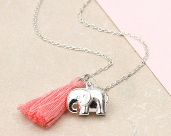 Personalised Sterling Silver Elephant Necklace