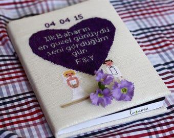 Personalized Custom Pretty Cross Stitch Notebook