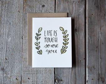 Encouragement Card • Motivational Card • Support Card • Hand Painted Watercolor Card