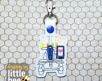 new single / multi needle embroidery machine snap tab design - key fob, keychain, embroidery design - machine embroidery design 07 14 2017