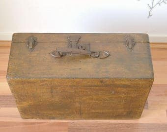 old wood, varnished, suitcase luggage