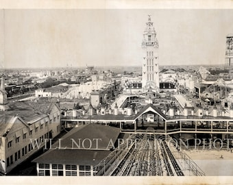 1910 Coney Island Brooklyn New York City Vintage Panoramic Photograph Reprint