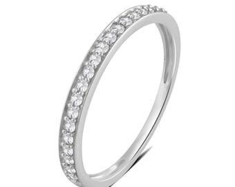 1/5 Cttw Diamond Wedding Band in 10K White Gold
