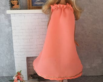 Peach negligee for Barbie and friends