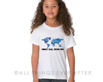 JW Gift | Kids Caleb and Sophia Toddler Unisex Tee Shirt | Here I am Send Me| Pioneer gift | JW | SKE Gift Present Jw Org