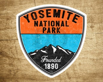 "YOSEMITE NATIONAL PARK California Vinyl Sticker Bear Mountain Hiking Camping Climbing Decal 3.1"" X 3"""