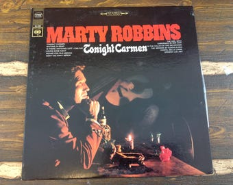 Marty Robbins Tonight Carmen Vintage Vinyl Record LP 1967