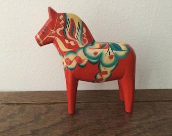 Sold*****Hold for Rita****SWEDISH DALA Horse      SWEDISH Folk Art Dala Horse     Ratvik Dala Horse