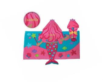 Personalized Hooded Beach & Bath Towel - Mermaid