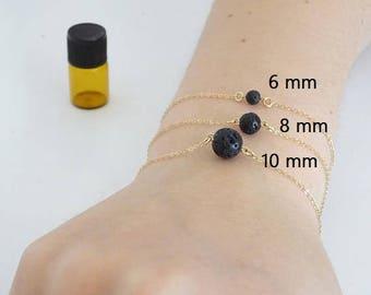 Lava bracelet, bridesmaid bracelet, Essential Oil Diffuser Yoga bracelet, Boho jewelry, Gift for her 6 mm, 8mm, 10 mm lava bracelet